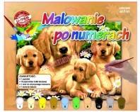 Obraz do malowania - motyw psy