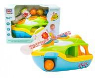 Kolorowa łódka z młoteczkiem B/O 30cm
